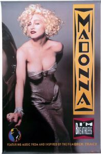I'M BREATHLESS (Dick Tracy) - USA ALBUM PROMO POSTER